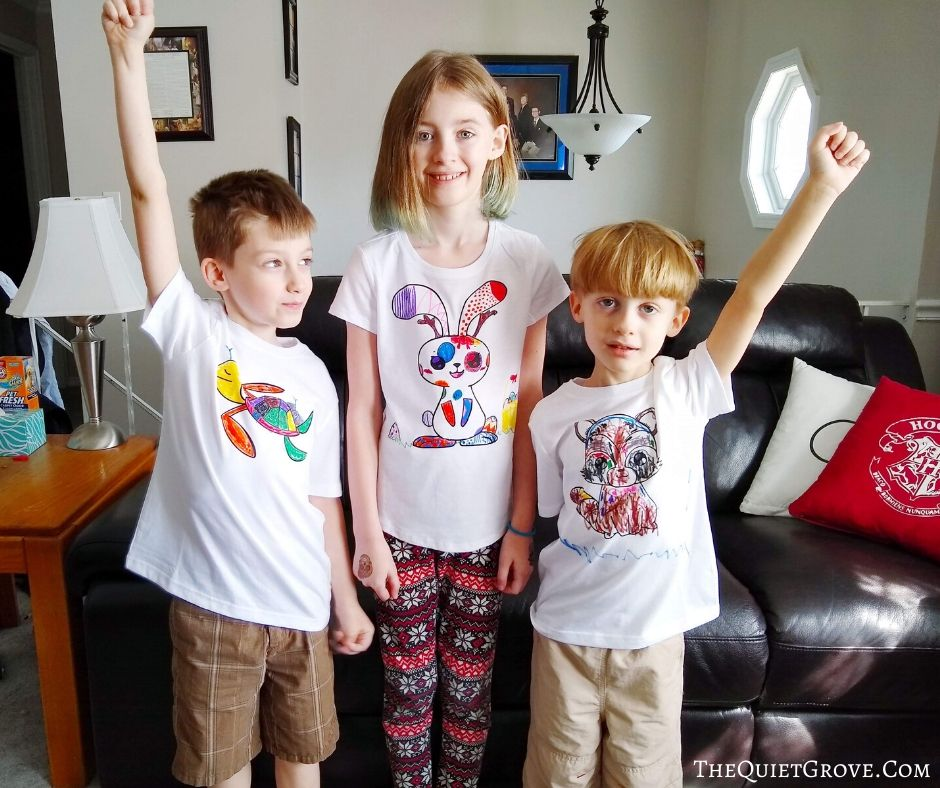 Diy Animal Coloring Page Shirts With Cricut Iron On The Quiet Grove